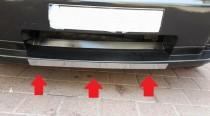 Хром накладка на передний бампер Додж Нитро