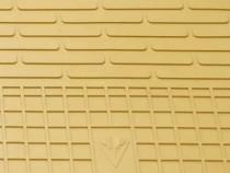 Бежевые коврики салона Mercedes 204 из резины
