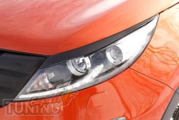 Реснички на фары Kia Sportage 3 фото