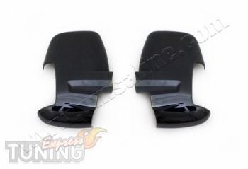 Черные накладки зеркал Ford Transit 7
