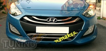 Хромированная накладка радиаторной решетки Hyundai i30 GD