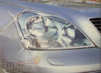 Хром накладки на фары Lexus LS UCF30