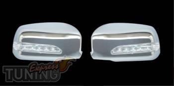 Хром накладки зеркал LED Mitsubishi Lancer 9