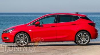 Хромированная окантовка стекол Opel Astra K
