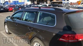 Дефлекторы окон с хромом Volkswagen Passat B7 Variant
