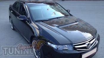 Накладки на передние фары Хонда Аккорд 7 (декоративные реснички)