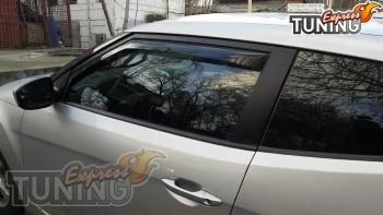 Вставные ветровики на двери Hyundai Veloster оригинал