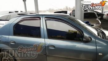 Оригинальные ветровики на Renault Logan 1