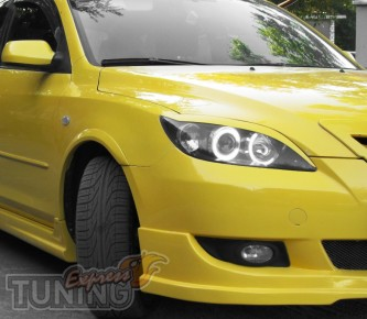 Декоративные реснички на фары Mazda 3 hatchback (фото)