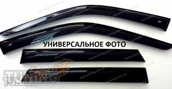 Ветровики на двери Kia Rio 4 седан Кобра Тюнинг