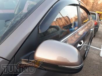 Фирменные ветровики на Kia Rio 4 седан
