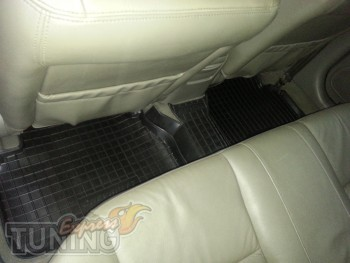 Резиновые коврики салона шевроле Эванда седан