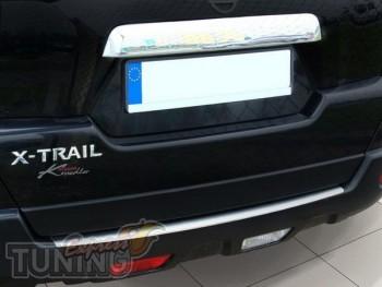 Накладка на задний бампер Ниссан Х-Трейл Т30 (защитная накладка
