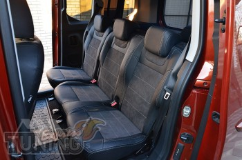 Чехлы в салон Ситроен Берлинго 3 Пассажир серии Leather Style