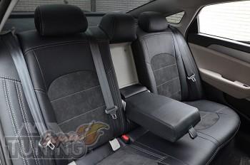 Чехлы на Hyundai Sonata 7 с 2014 года серии Leather Style