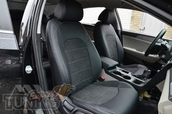 Чехлы для Hyundai Sonata 7 с 2014 года серии Leather Style