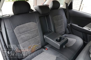 Чехлы для Kia Niro с 2016- года серии Leather Style