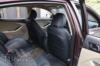 Чехлы на Kia Optima 3 с 2010- года серии Leather Style