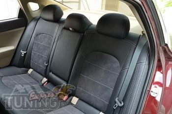 Чехлы в авто Kia Optima JF с 2014- года серии Leather Style