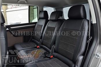 Чехлы в авто Mitsubishi L200 с 1996- года серии Leather Style