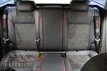 Чехлы в Opel Astra J с 2009- года серии Leather Style
