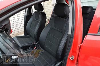 Чехлы для Opel Corsa D с 2006- года серии Leather Style