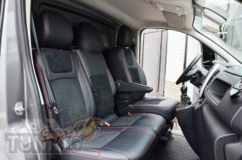 Чехлы для Opel Vivaro 2 с 2014- года серии Leather Style