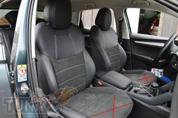 Чехлы в Skoda Karoq с 2018- года серии Leather Style
