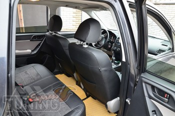 Чехлы в авто Subaru Forester 3 с 2008- года серии Leather Style