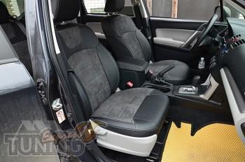 Чехлы на Subaru Forester 3 с 2008- года серии Leather Style