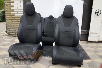 Чехлы салона Tesla Model X с 2015- года серии Leather Style