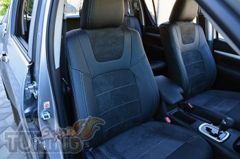 Чехлы для Toyota Hilux 8 с 2015- года серии Leather Style