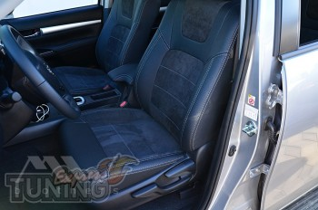 Чехлы в авто Toyota Hilux 8 с 2015- года серии Leather Style
