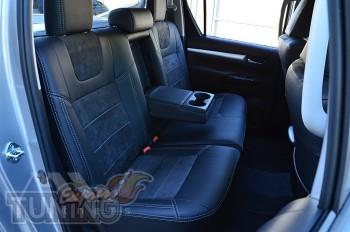Чехлы салона Toyota Hilux 8 с 2015- года серии Leather Style