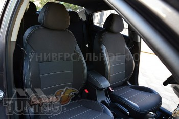Авточехлы на Тойота Проэйс Версо серии Premium Style