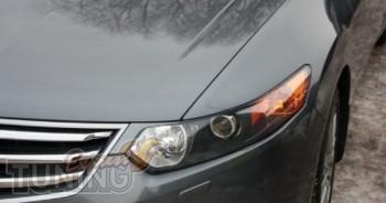 Накладки на передние фары Хонда Аккорд 8 (реснички)
