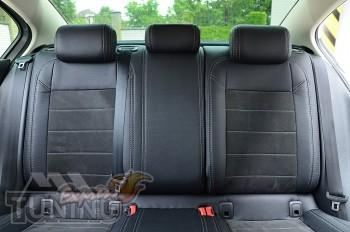 Чехлы на Volkswagen Passat B8 с 2015- года серии Leather Style