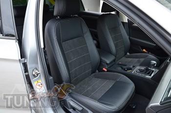 Чехлы в Volkswagen Passat B8 с 2015- года серии Leather Style