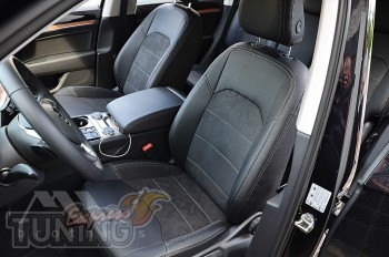 Чехлы для Volkswagen Touareg 3 с 2018- года серии Leather Style