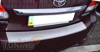 Накладка на задний бампер Тойота Авенсис 3 Т27 (защитная накладк