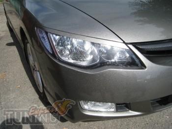 Купить реснички на фары Хонда Цивик 4д (ExpressTuning)
