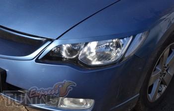 Купить декоративные реснички на фары Honda Civic 4d (Киев)