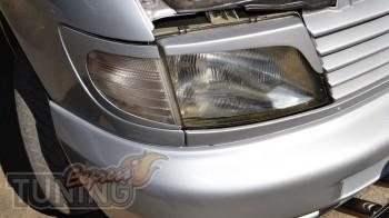 Пластиковые реснички на фары Mercedes Vito W638 (комплект наклад