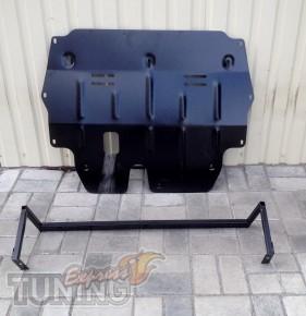 Защита двигателя Skoda Fabia 2 (защита картера Шкода Фабия 2)