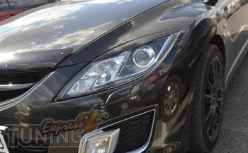 Реснички на фары Мазда 6 GH, 2008-2012 (накладки фар для Mazda 6