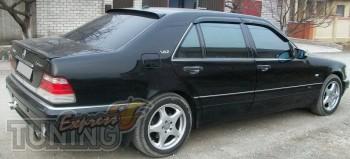 Спойлер на крышку багажника Mercedes W140 седан (задний лип спой