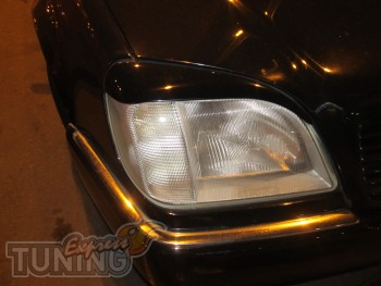 Передние тюнинг реснички на фары Mercedes W140 купе (фото, Expre