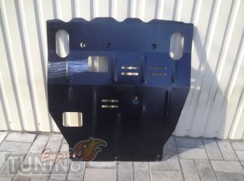 Защита двигателя Митсубиси Лансер 10 под бампер (защита картера