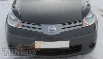 Верхние реснички на фары Nissan Note (для дорестайлинговых фар)