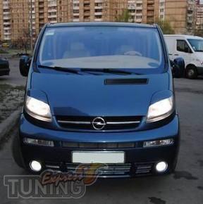 Установка ресничек на передние фары Opel Vivaro (магазин Express